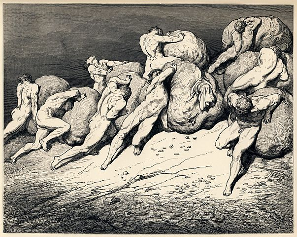 603px-Gustave_Doré_-_Dante_Alighieri_-_Inferno_-_Plate_22_(Canto_VII_-_Hoarders_and_Wasters)